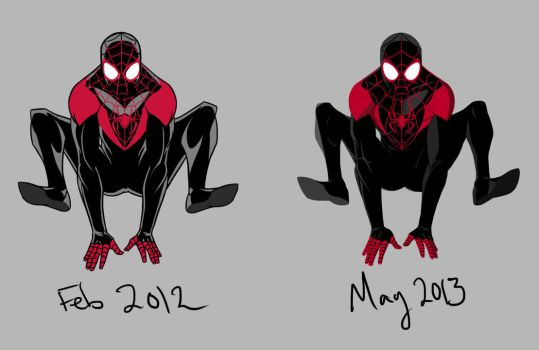 Ultimate Spiderman Before and After by Buddhaman1