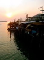 Sunset in Tai-O by kimmyjune