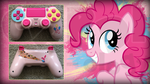 Custom PS4 Controller Pinkie Pie from MLP:FiM by CARDI-ology