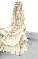 Fleur:Wedding dress by nami86 by BellatrixBlackSnape