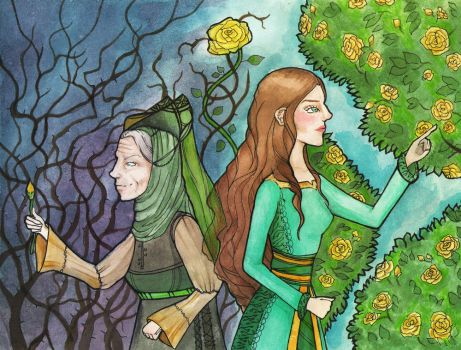 When the rose had less thorns by Persephore