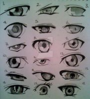 Anime eye practice by GXrocksmysox7