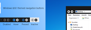 Windows 8/8.1 Themed Navigation Buttons by biosmanager