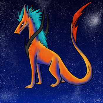 Cosmic Dragon by Sparkgon