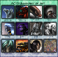 2012 Summary of Art by EjLowell