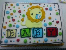Baby Lion Cake by Transformergirl