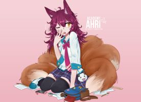 Academy Ahri by zephyrskies
