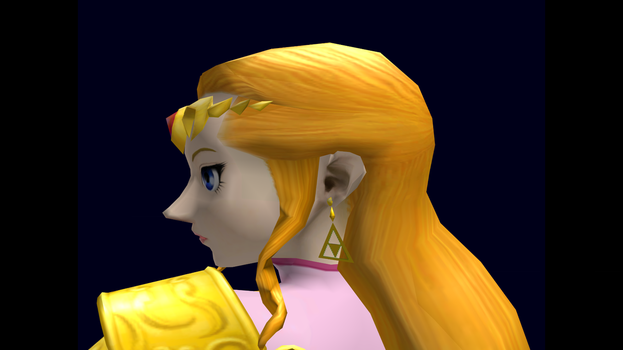 Zelda (Smash) Trophy Closeup SSBM 5 by SuperMario811