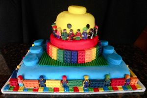Lego Cake by Pixie-Lyrique