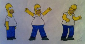 Homer Simpson by SchreiAlina