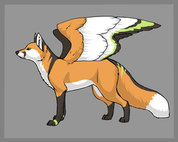 Winged Fox : Draw to adopt OPEN by BaseBubble