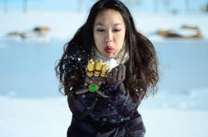 Asami Sato - Snow Blow by xrenascent