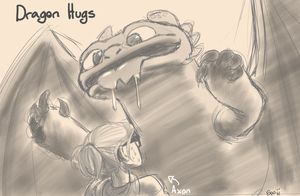 Dragon hugs by Socij