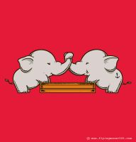 Trunk Wrestling by flyingmouse365