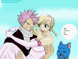 Natsu x Lucy (the wedding of fire and keys) by Juviaaa