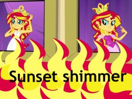 Human Sunset Shimmer Wallpaper by Sunset-Dasher