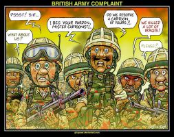 BRITISH ARMY COMPLAINT by glogauer