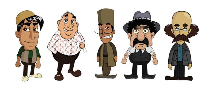 Cartoon Characters 2 100 Pics : Illustration and vector art on persian arts deviantart