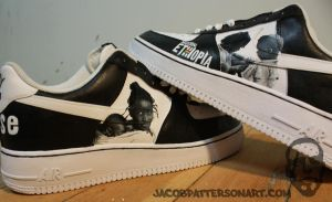 Mission: Ethiopia Nike AF1s by PattersonArt
