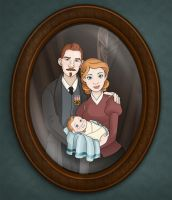 Tintin and Family by chronicdoodler