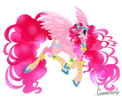 Alicorn Pinkie Pie by linamomoko