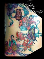 Butterfly and Flower Backpiece by Metacharis
