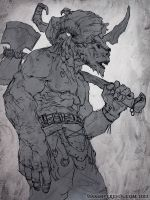 Minotaur sketch by Verehin