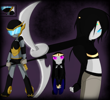 Tfa Ocs- Silverblade,Nightshadow,Nightwillow by Darkemerald4578