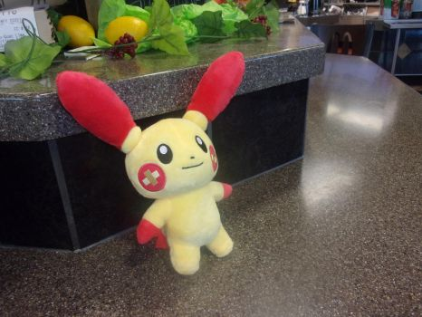 Plusle at Mcdonald's by NovaKaru