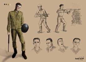 WWII Character Design by BobWulff