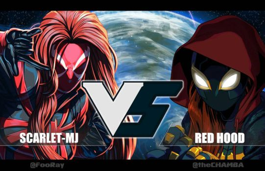 Scarlet-MJ  VS Red Hood by theCHAMBA