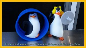 Mcdonalds Penguins Skipper and Kowalski Toys by Vesperwolfy87