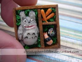 Totoro's Lunch: Bento Box I by TheMiniatureBazaar