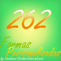 262 Formas personalizadas by CooniiSweet