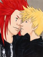 Axel and Roxas by Sackielc