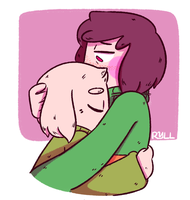 Request - Asriel N' Chara by ryllcat21