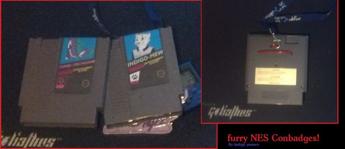 Furry NES con-badges! by Indigo-Yartsev