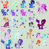 Free mlp adoptables CLOSED by nat998877