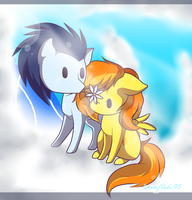 Soarin' and Spitfire: Flower for you by snowflake95