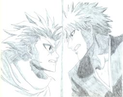 Ichigo and Toshiro by Sgt-Pain5