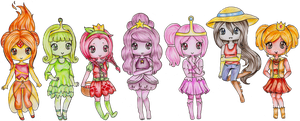 Adventure Time Princesses by Bee-chii