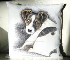Pillow Jack-Russell-Terrier Puppy by ArtsandDogs