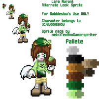 :G: Lara Aurant Alternate Look Sprite by TechnoGamerSpriter