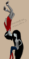 Marceline and Marshall lee by EGBart