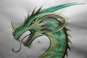 Green dragon by Esmeekramer