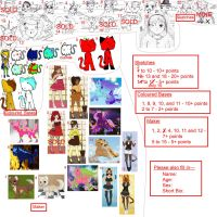 BIG BAD ADOPTABLE SALE! xD Nothing over 20 points! by MissBlossomUtonium
