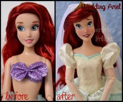 repainted ooak wedding ariel doll. by verirrtesIrrlicht