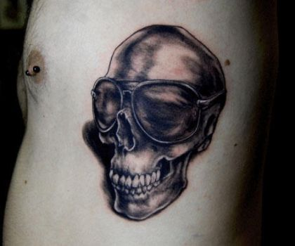 Aviator Skull Tattoo by Puku