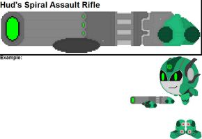 Hud's Spiral Assault Rifle by YellowNinja123