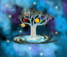 Galaxy tree by marinaawin